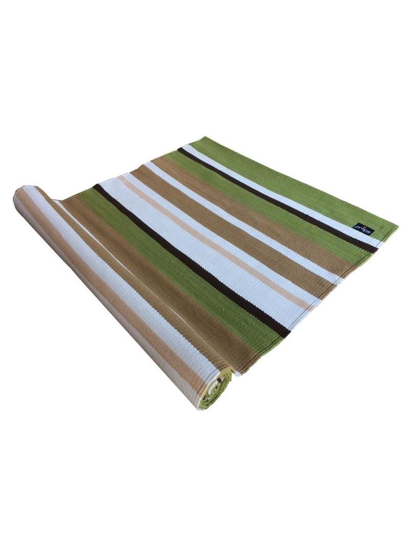 Cotton Yoga Mat Green