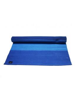 Cotton Yoga Mat Blue